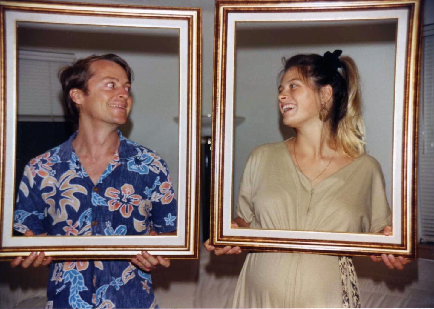 My first co-parent, Glenn, expecting our son Jesse; Maui 1990